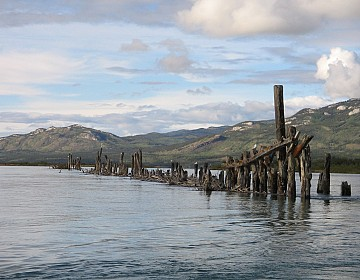 Pilings at beginning of Upper Laberge