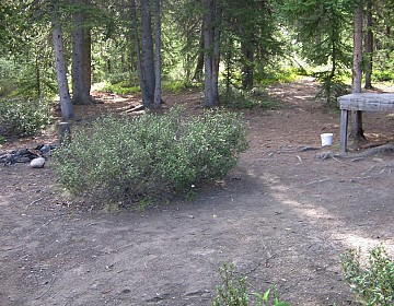 Campsite at Hundred Mile Landing