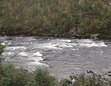 Upper end of Skookum Rapids