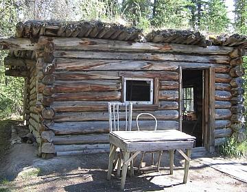 Cabin above Big Salmon