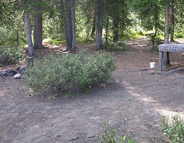 Campsite at Hundred Mile Landing
