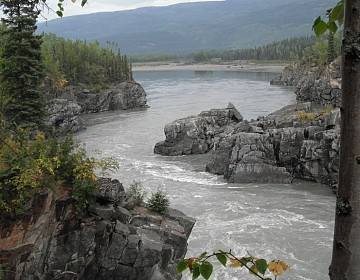 Looking downriver from Fraser Falls